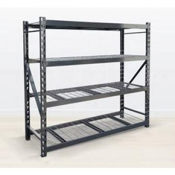 4-Tiers Catering Kitchen Warehouse Shelving Stainless Steel Plastic Food Storage Shelves