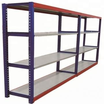 Black custom light duty metal frame shelf goods rack for warehouse / steel warehouse storage rack shelves
